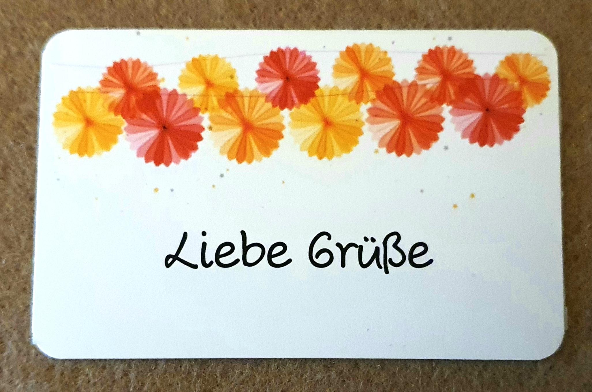 """Karte """" Liebe Grüße """""""